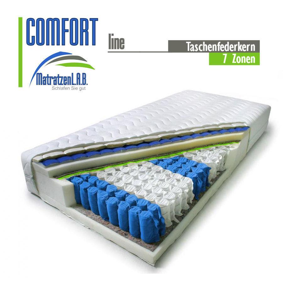 7 zonen taschenfederkern matratze comfort line 140 x 200 h2 5 ebay. Black Bedroom Furniture Sets. Home Design Ideas